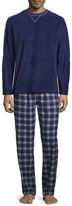 Izod Mens Pant Pajama Set 2-pc. Long Sleeve