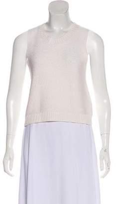 Frame Sleeveless Scoop Neck Sweater
