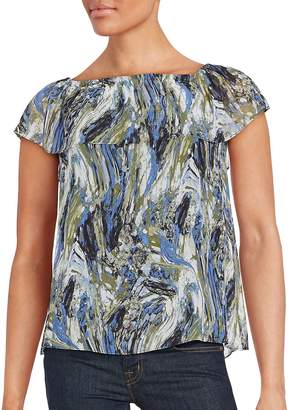 Kensie Women's Printed Short Sleeve Top