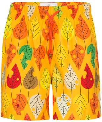Timo leaf print swim shorts