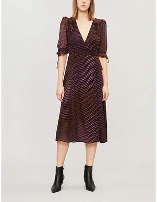 The Kooples Polka-dot wrap-over chiffon dress