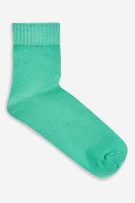 Topshop Deep Welt Glitter Socks