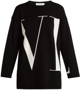 Valentino VLTN intarsia cashmere sweater