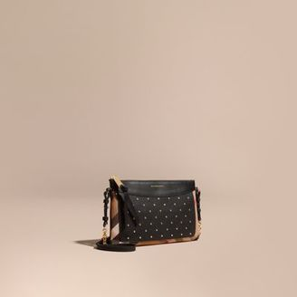 Burberry Riveted Leather and House Check Clutch Bag $750 thestylecure.com