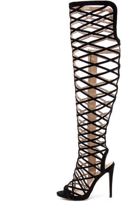 Wanted Geiger Nude Sandals Womens Shoes Dress Heeled Sandals