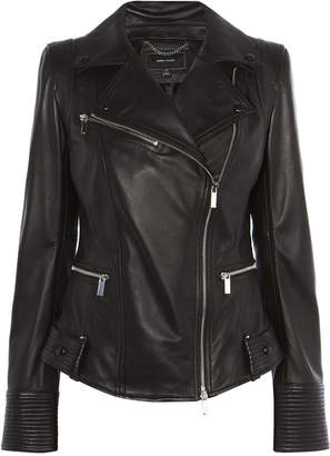 Karen Millen Fitted Leather Jacket