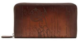 Berluti - Itauba Zip Around Leather Wallet - Mens - Brown