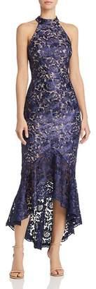 Aqua Floral Lace Midi Dress - 100% Exclusive