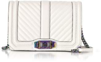 Rebecca Minkoff Bianco Chevron Quilted Leather Small Love Crossbody