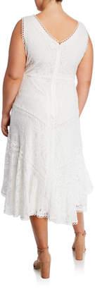 Taylor V-Neck Lace A-line Dress, Plus Size