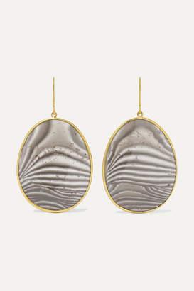 Pippa Small 18-karat Gold Agate Earrings