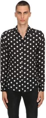 Polka Dot Silk Georgette Shirt
