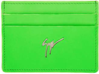 Giuseppe Zanotti Green Neon Logo Card Holder