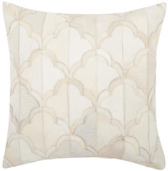 Nourison Natural Leather Hide Pillow