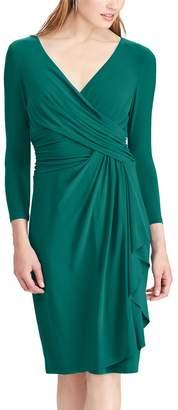 Chaps Women's Jersey Faux Wrap Dress