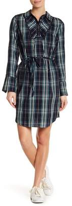 Joe Fresh Plaid Print Shirt Dress