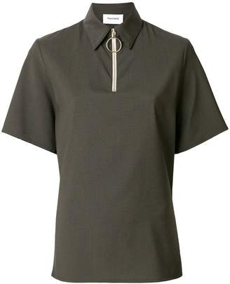 Harmony Paris zipped polo shirt