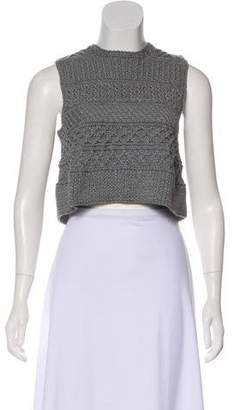 Spencer Vladimir Sleeveless Crop Sweater