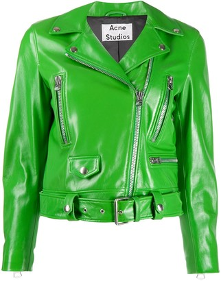 Acne Studios fitted biker jacket