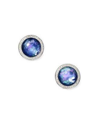 Ippolita Stella Stud Earrings in Royal Doublet with Diamonds