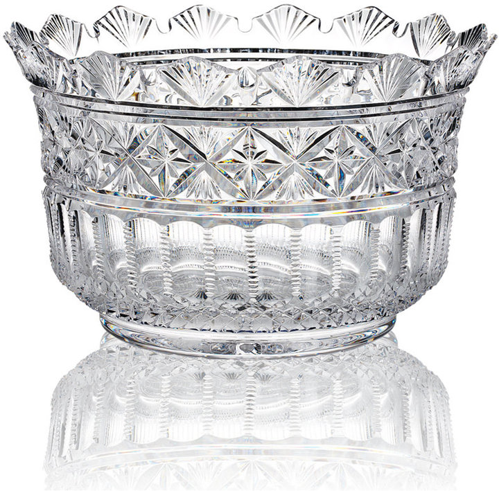 "Waterford House of Crystal Gifts, Jim O'Leary Tara Bowl 12"" x 7.5"""