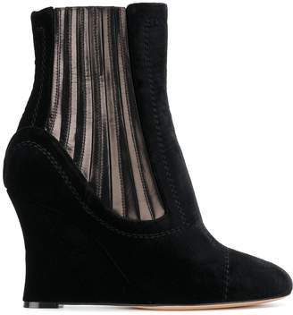 Ballin Alchimia Di metallic panelled wedge ankle boots