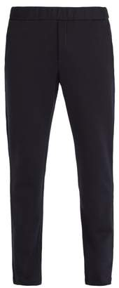 Bottega Veneta - Intrecciato Trim Cotton And Wool Blend Track Pants - Mens - Navy