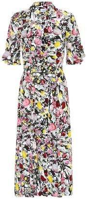 Erdem Gisella floral crepe midi dress