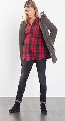 Esprit slim black jeans w over-bump waistband