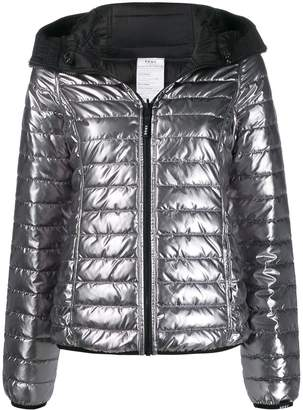 DKNY reversible hooded puffer jacket