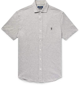 Polo Ralph Lauren Mélange Cotton-Piqué Shirt