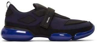 Prada Navy Gabardine Cloudbust Sneakers