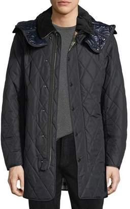 Burberry Northumberland Quilted Check-Lined Quilted Jacket