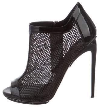 Giuseppe Zanotti Mesh Peep-Toe Ankle Boots