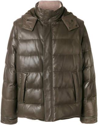 Loro Piana detachable sleeves and hood jacket