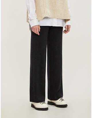 MIO IBEN wide-leg high-rise wool trousers