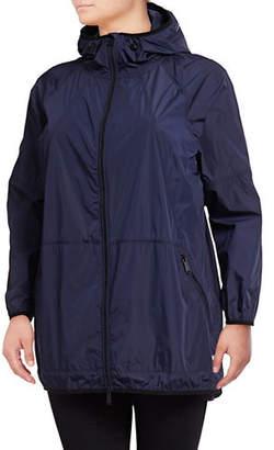 Calvin Klein Plus Full-Zip Hooded Anorak