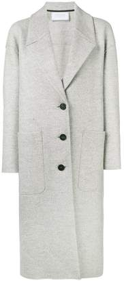 Harris Wharf London boxy buttoned coat