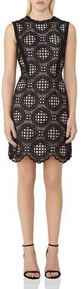REISS Dixie Graphic Lace Dress $445 thestylecure.com