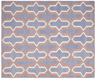 One Kings Lane Pola Dhurrie Rug - Purple