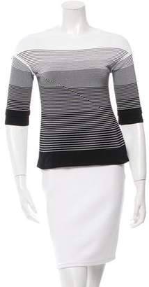 Ohne Titel Striped Three-Quarter Sleeve Top