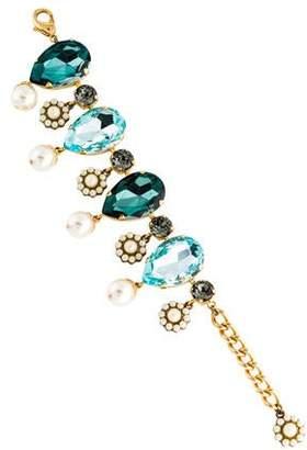 Dolce & Gabbana Crystal & Faux Pearl Bracelet