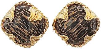 One Kings Lane Vintage Dominique Aurientis Striped Earrings