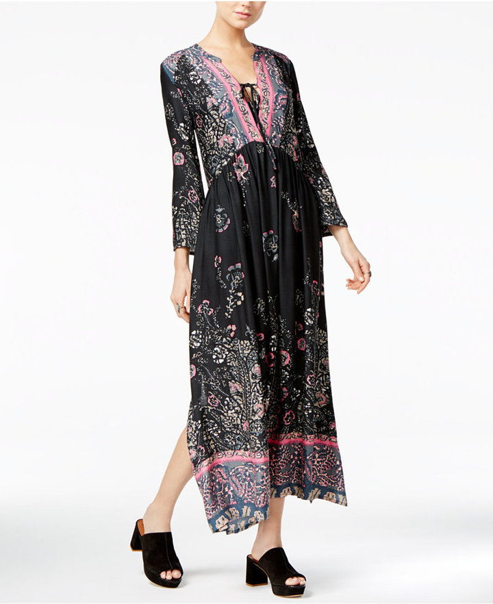 Free People If You Only Knew Printed Maxi Dress 4