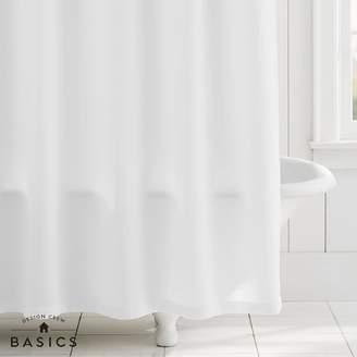 Pottery Barn Teen Design Crew Basics Shower Curtain, O/S, White