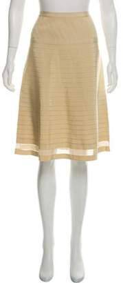 Prada Knee-Length A-Line Skirt Beige Knee-Length A-Line Skirt