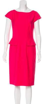 HUGO BOSS Boss by Wool Peplum Dress w/ Tags