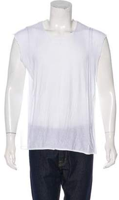 Ann Demeulemeester Sheer Crew Neck Tank Top