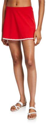 Karla Colletto Frida A-Line Swim Skirt with Trim