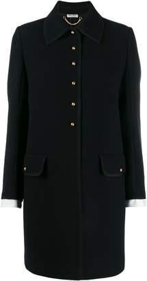 Miu Miu half-button single-breasted coat